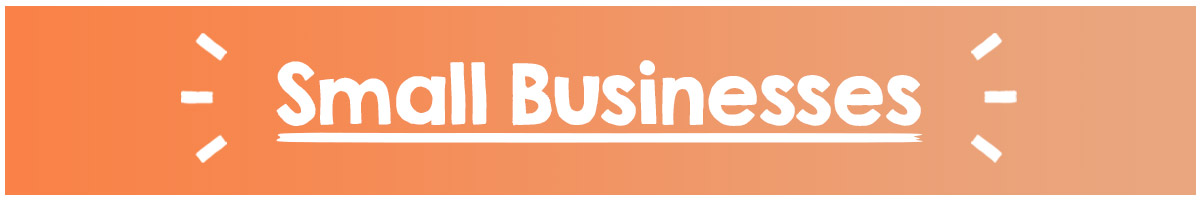 Support small businesses banner