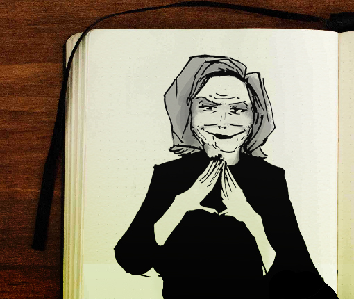Journal illustration of Nancy Pelosi
