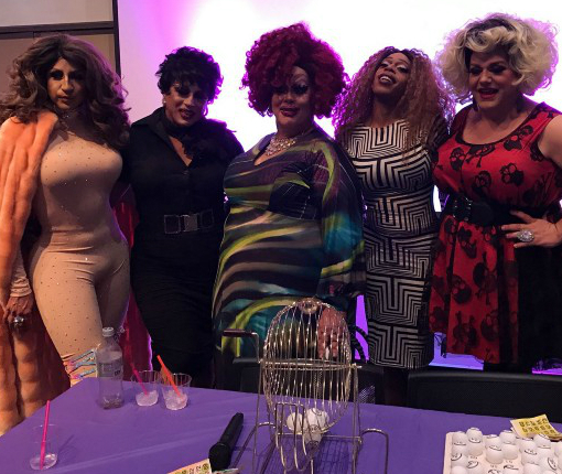 The queens who hosted the event. (From left to right: Roxy de Valle, Luna, Psycadella Facade, Jasmine Masters.)