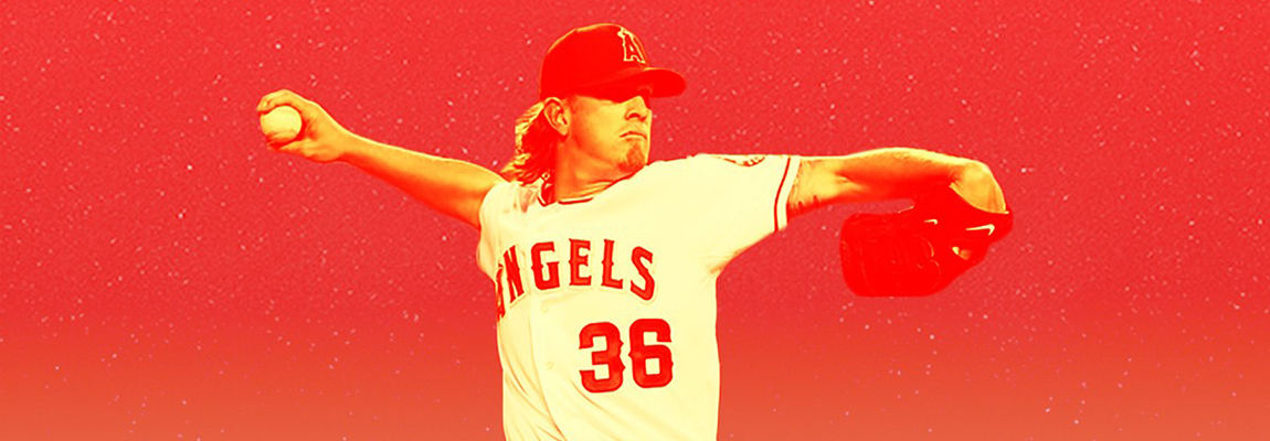 Jered Weaver in a baseball match