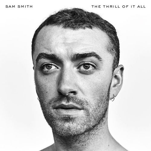 A profile image of Sam Smith with his name and album title on the top half of the picture
