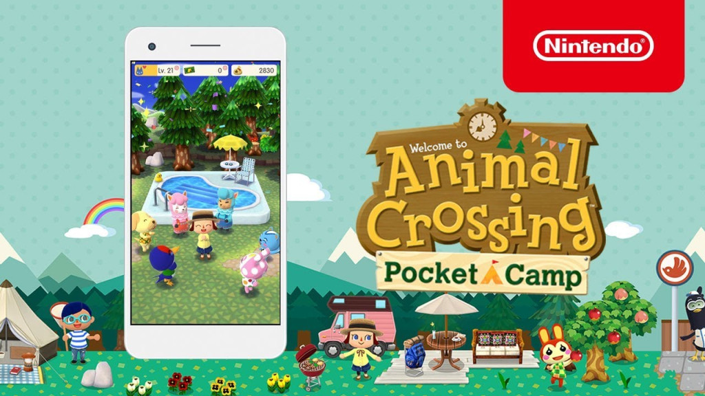 Promotional images of Nintendo's mobile game Animal Crossing Pocket Camp